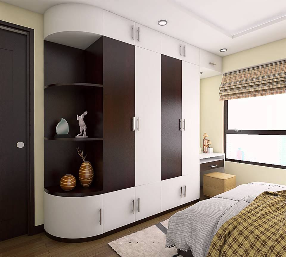 thiết kế nội thất phòng ngủ cho vợ chồng son 3