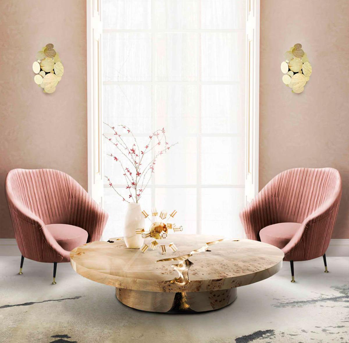 nội thất phòng khách màu pastel