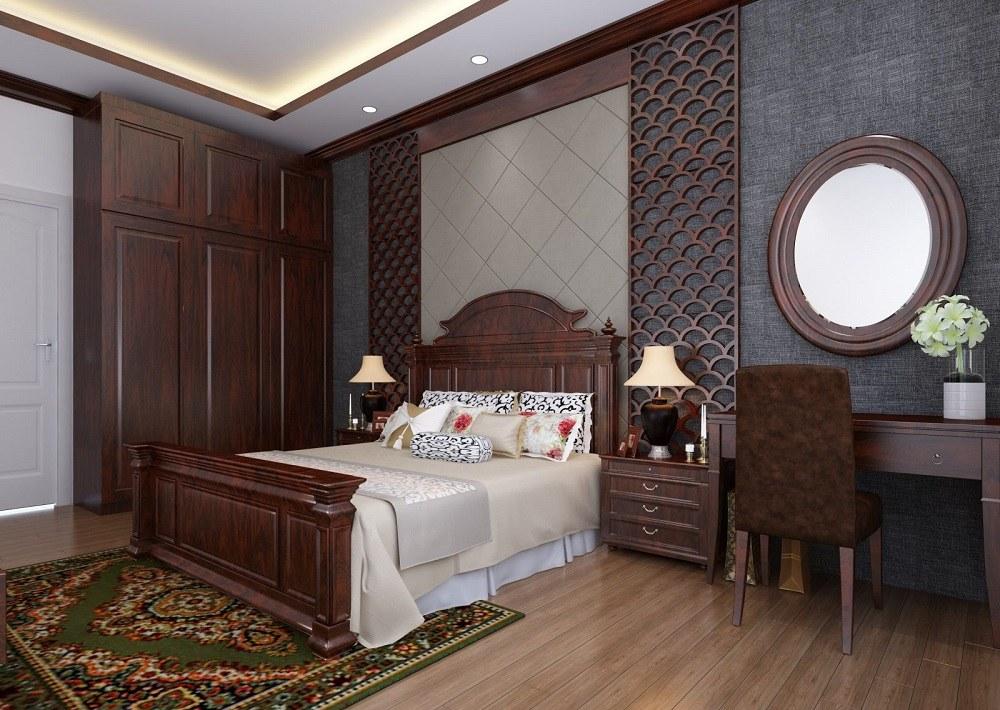 nội thất phòng ngủ bằnggỗ tự nhiên