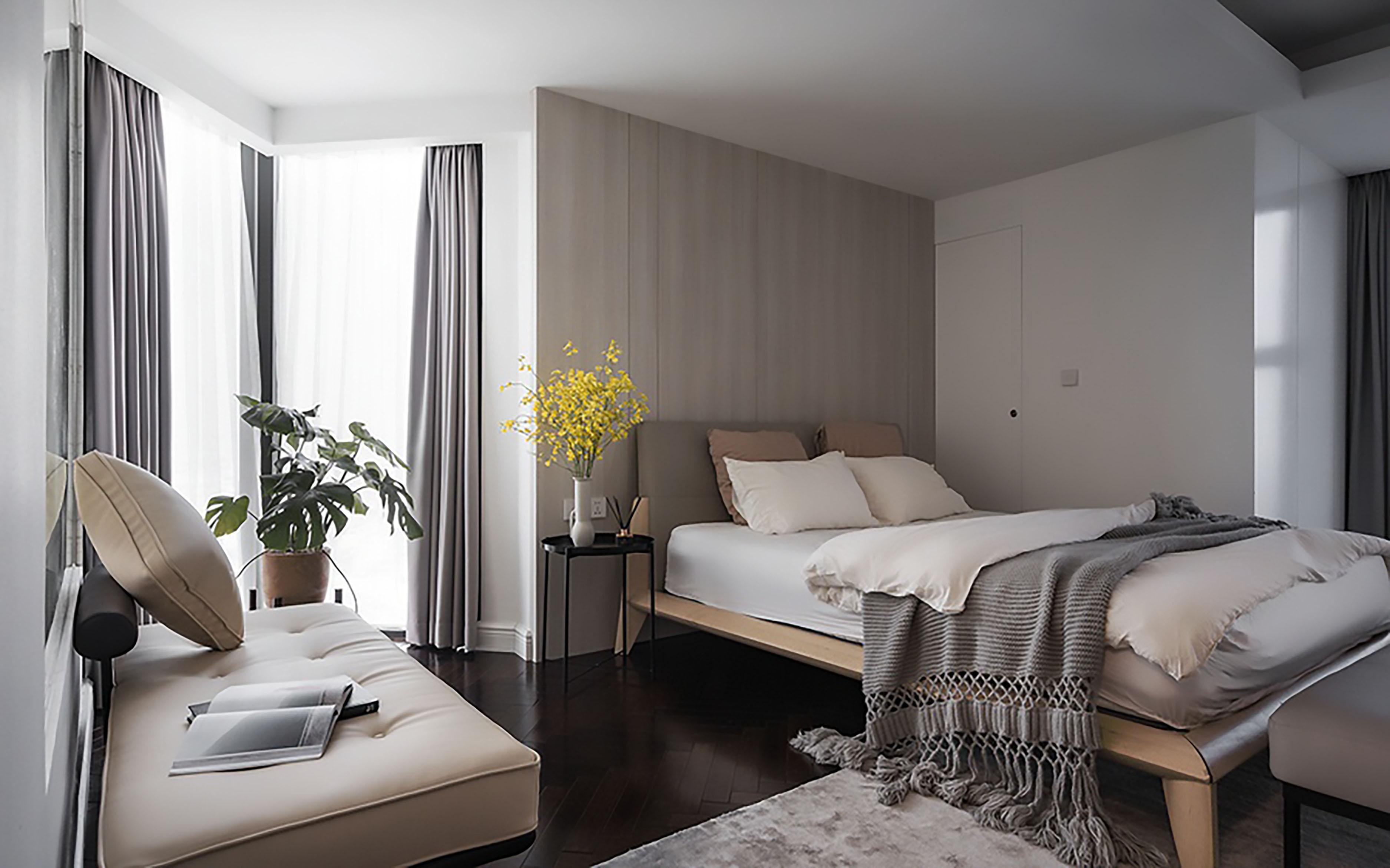 nội thất phòng ngủ căn hộ Duplex