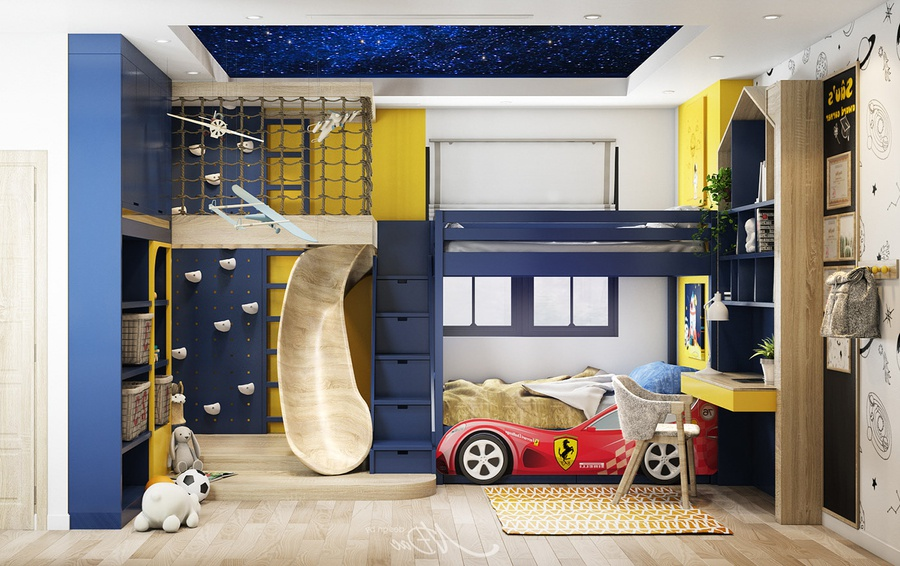 Thiết kế phòng ngủ bé trai độc đáo