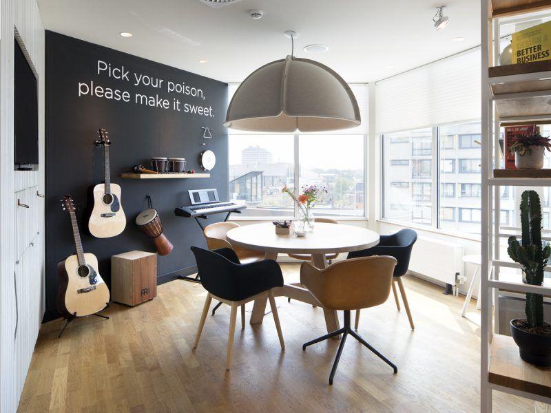 không gian âm nhạc nổi bật trong phòng giải trí gia đình