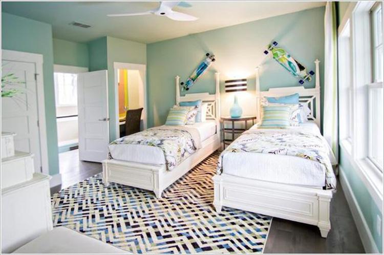phòng ngủ cho bé trai sinh đôi 1