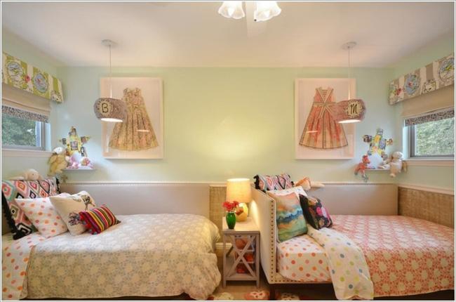 giường ngủ cho bé gái sinh đôi