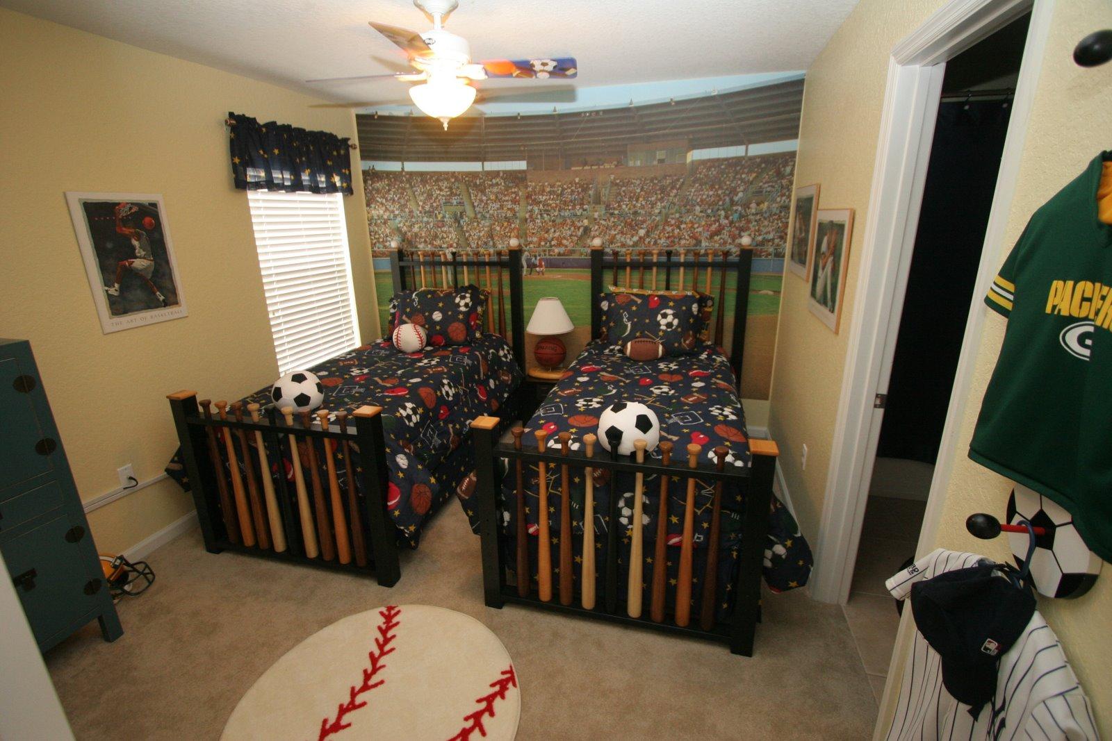 phòng ngủ cho bé trai sinh đôi 4