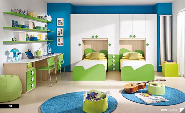 phòng ngủ cho bé trai sinh đôi 5