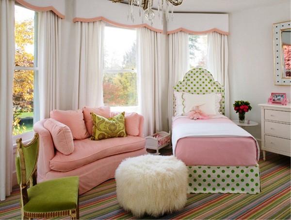 phòng ngủ gam màu hồng 10