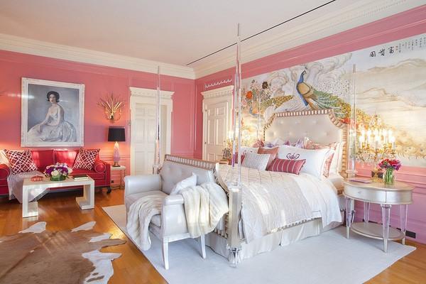 phòng ngủ gam màu hồng 2