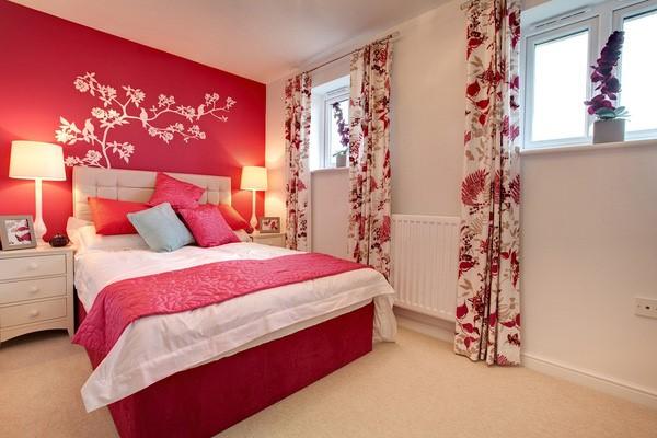 phòng ngủ gam màu hồng 5