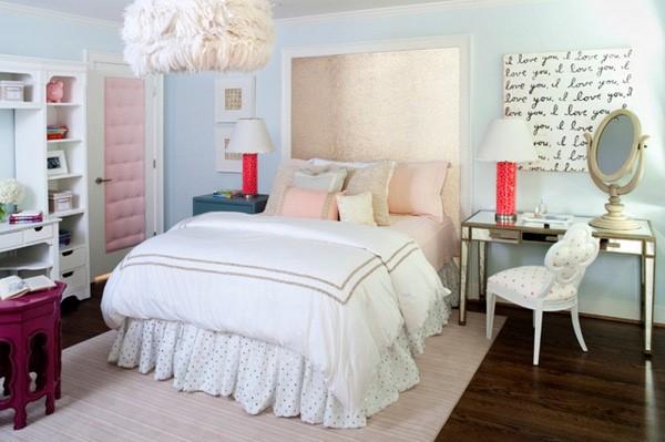 phòng ngủ gam màu hồng 7