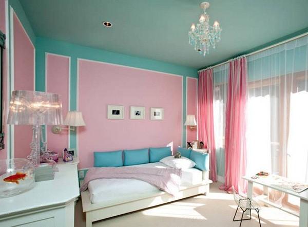 phòng ngủ gam màu hồng 8