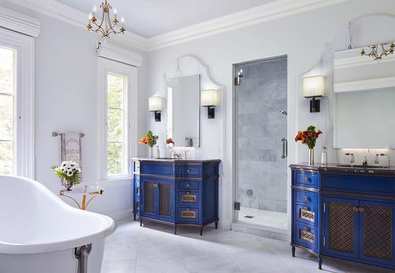phòng tắm mang phong cách Địa Trung Hải