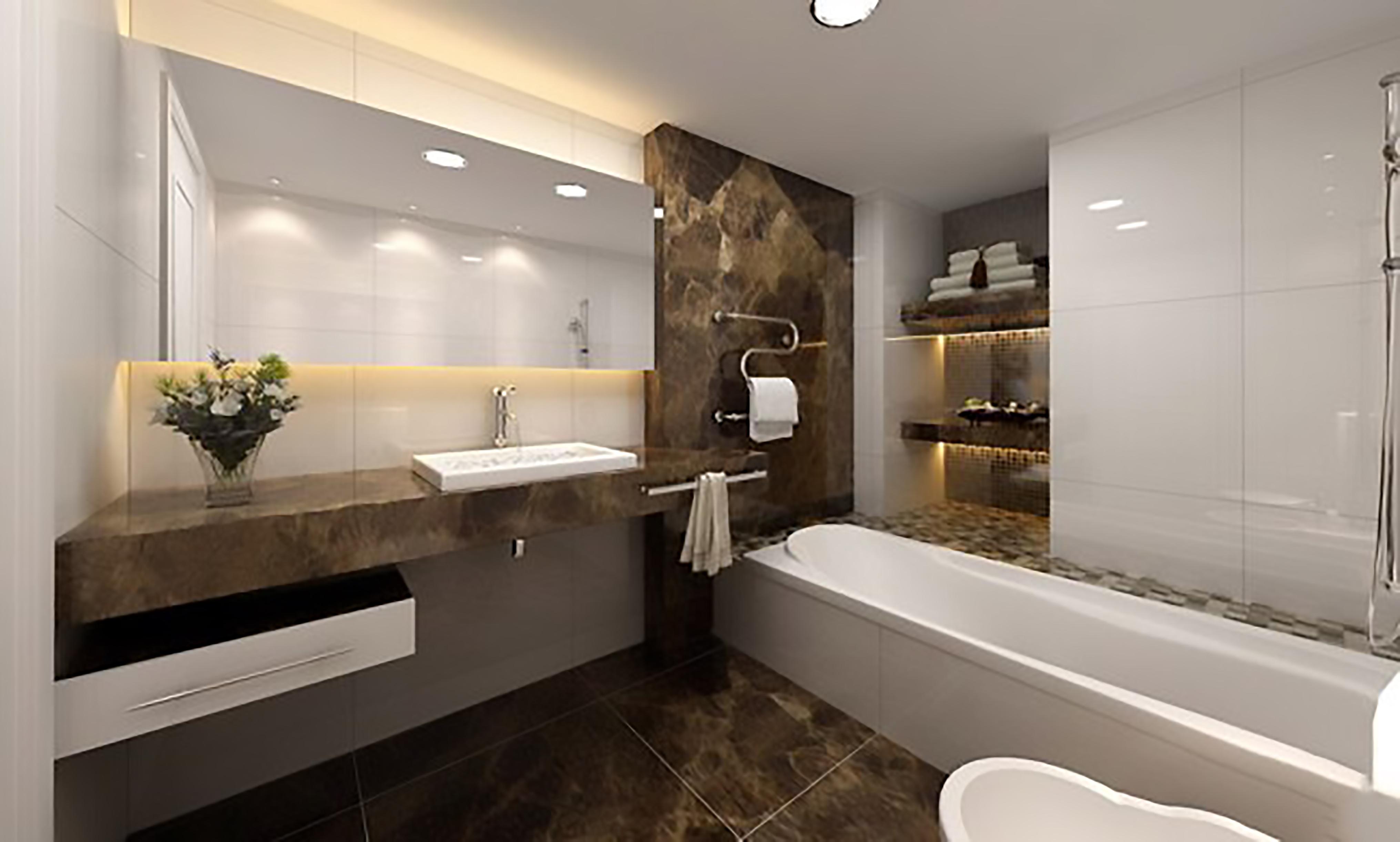 phòng tắm ôp mẫu đá tự nhiên