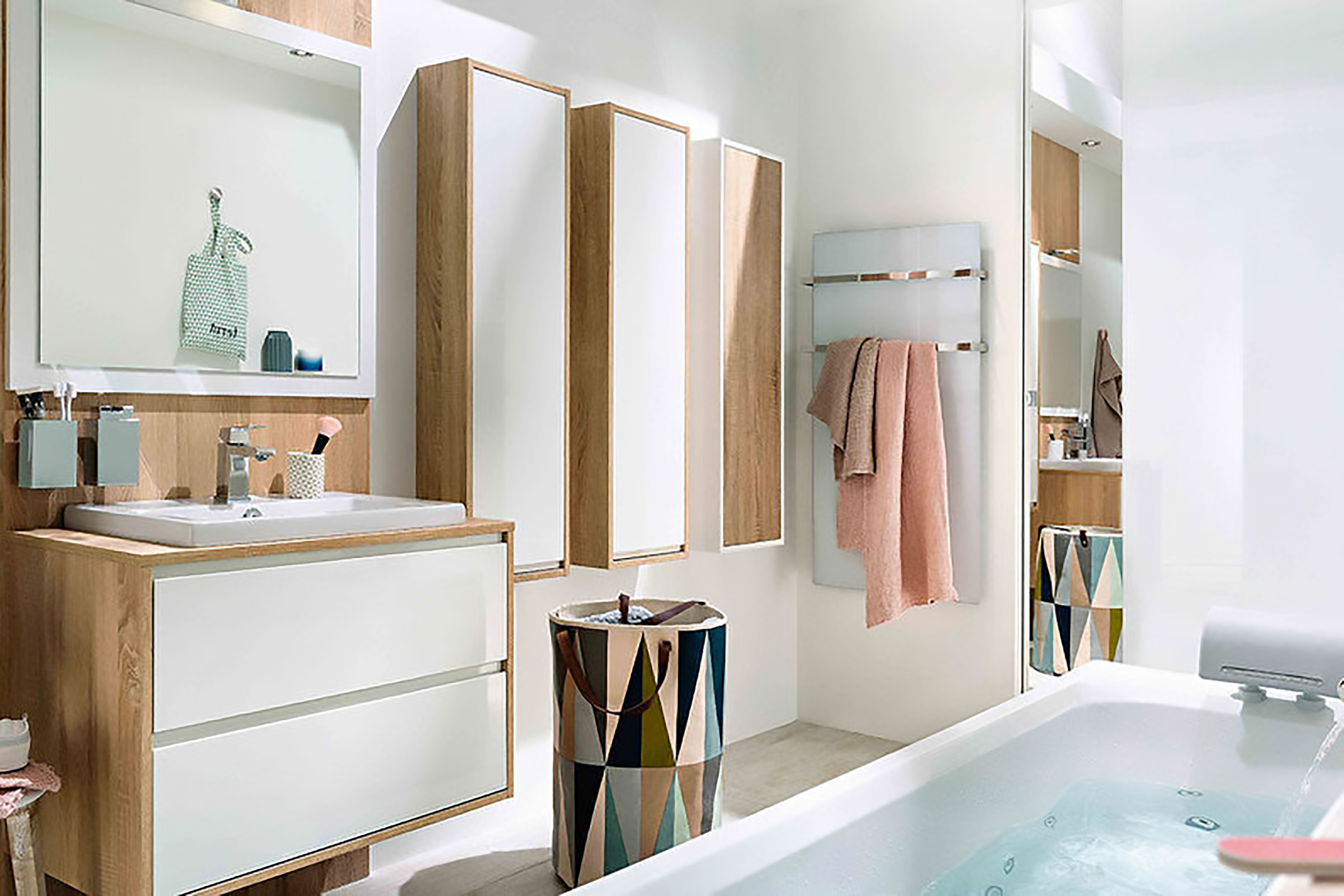 phòng tắm phong cách scandinavia