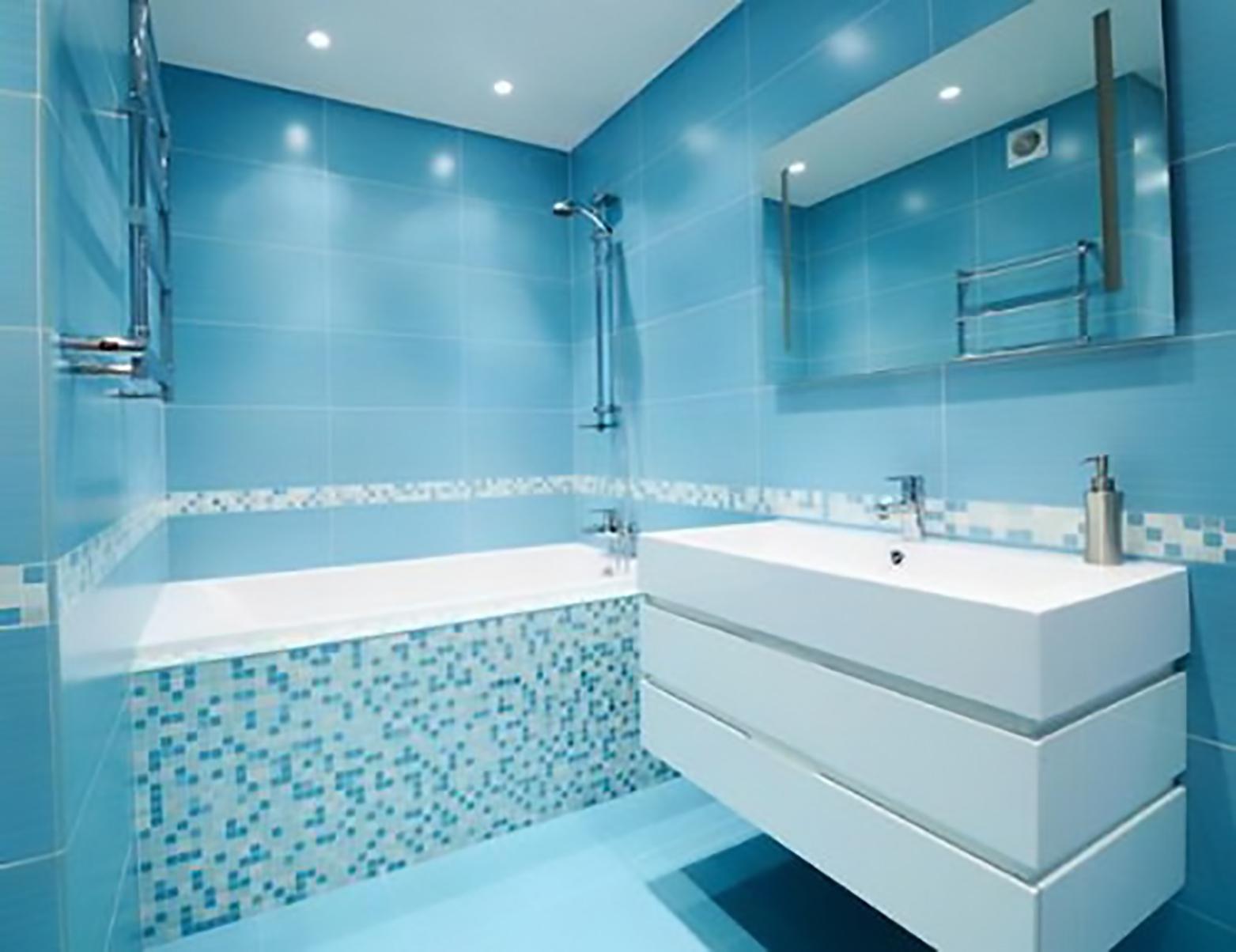 phòng tắm mang gam màu xanh nước biển