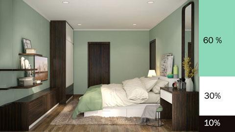 quy tắc phối màu phòng ngủ 2