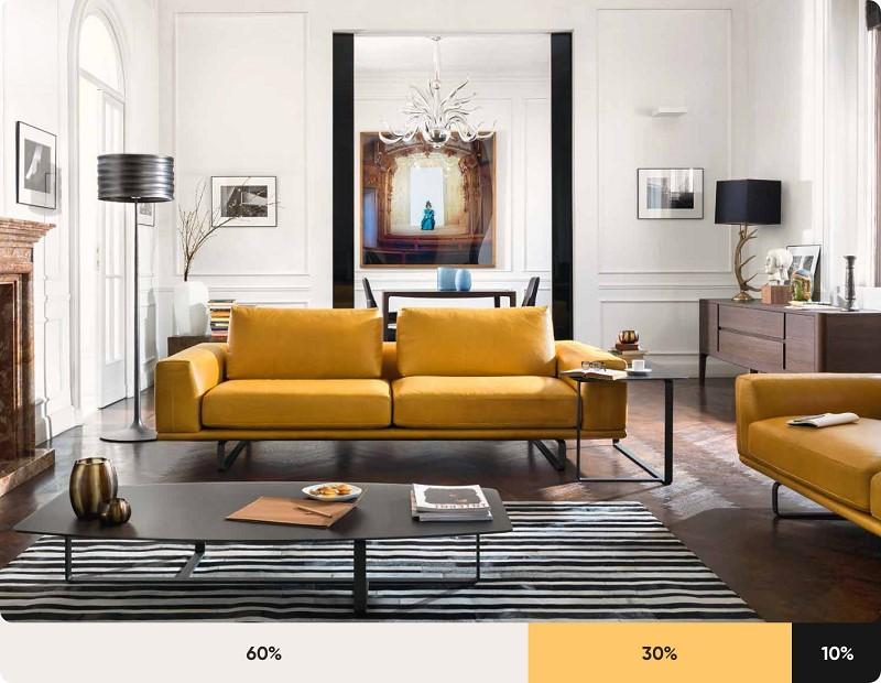 quy tắc phối màu trong nội thất 2