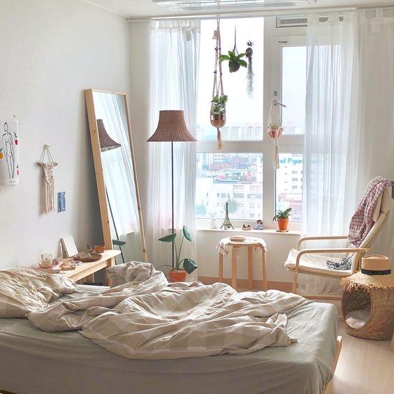trang trí phòng ngủ với rèm