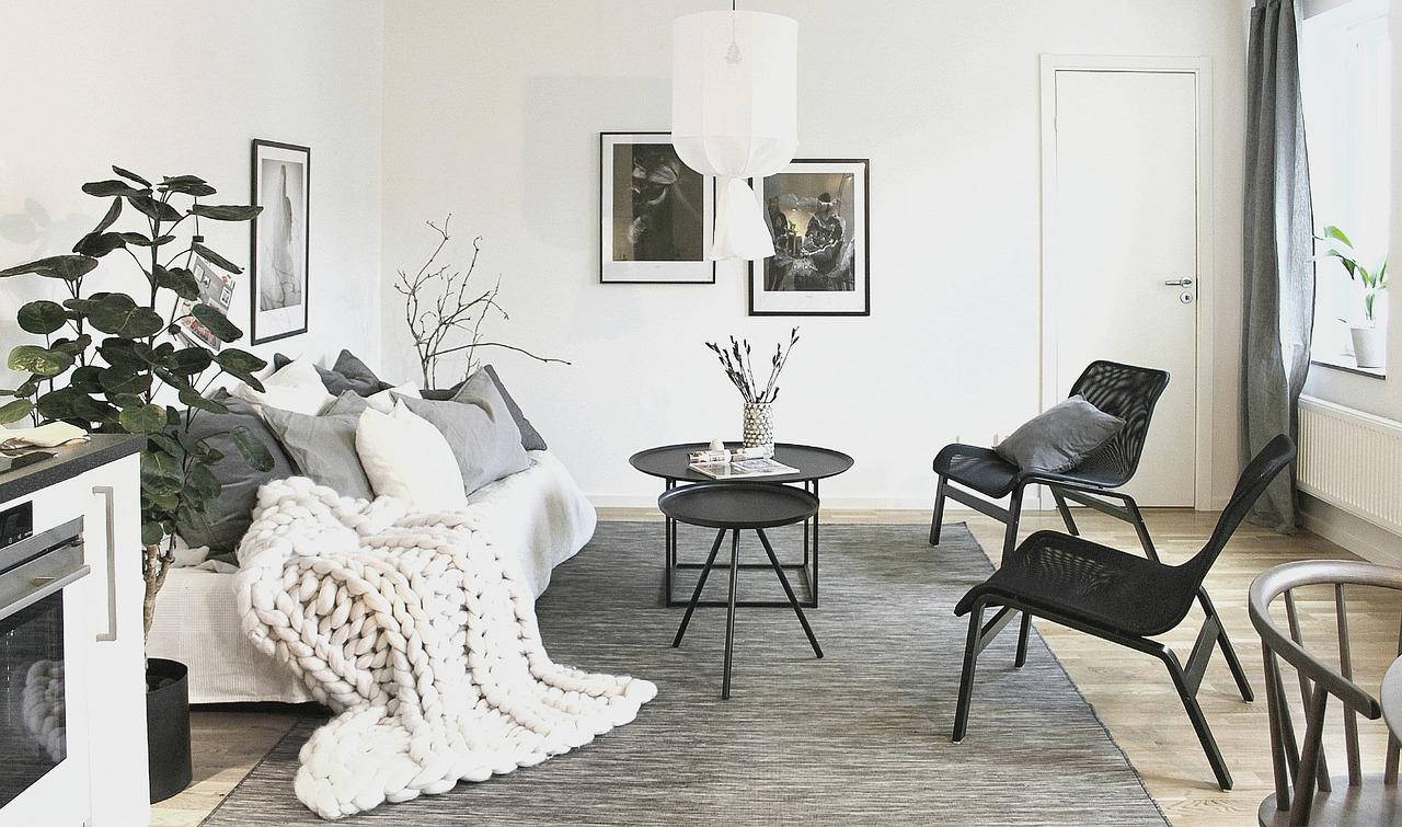 Thảm trải sàn hình chữ nhật cho phòng khách