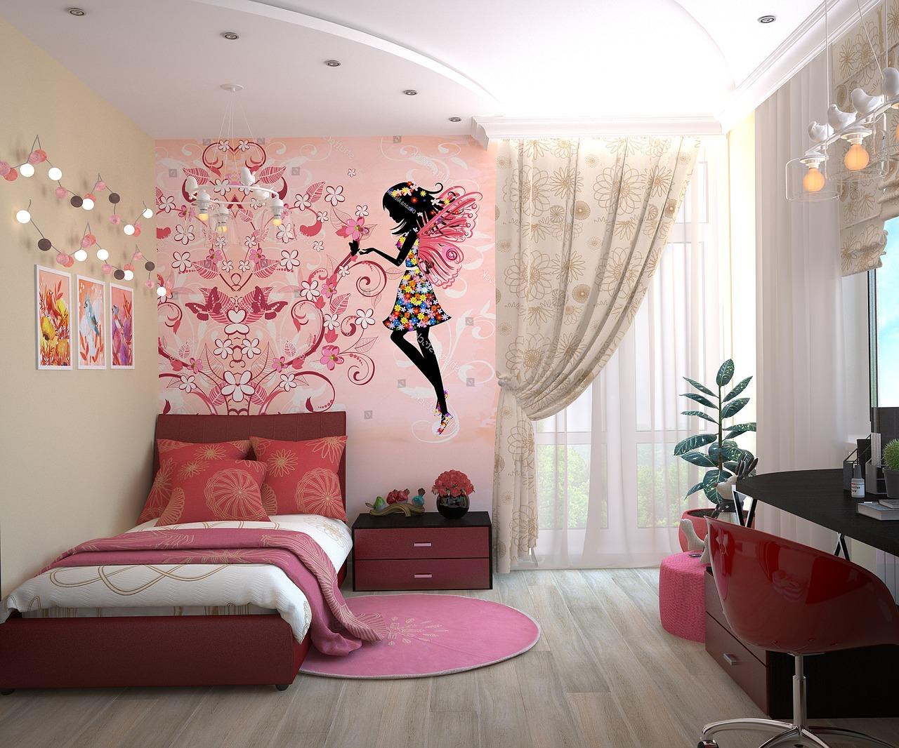 thảm trải sàn màu hồng