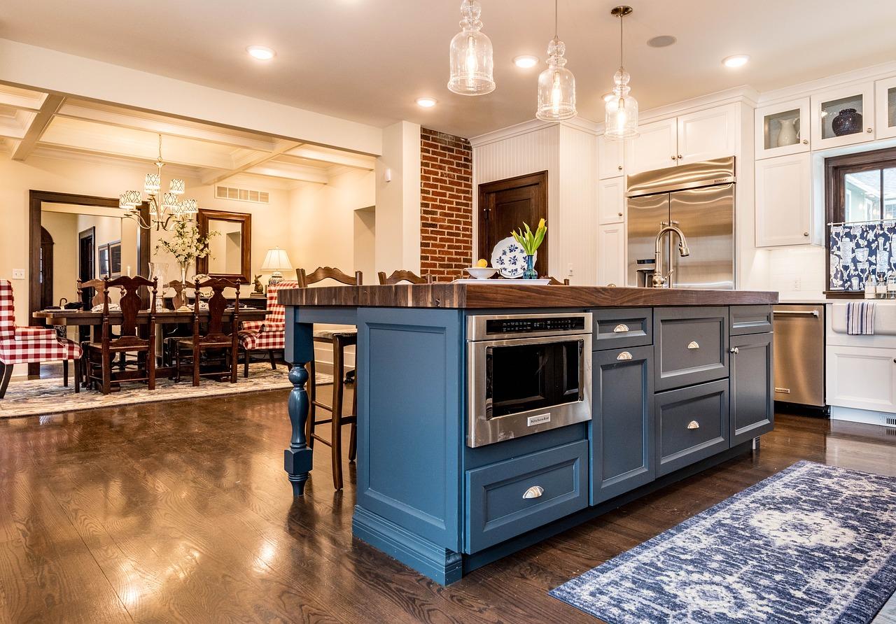 Thảm trải sàn trang trí cho phòng bếp