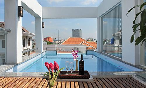 thiết kế bể bơi tại sân thượng