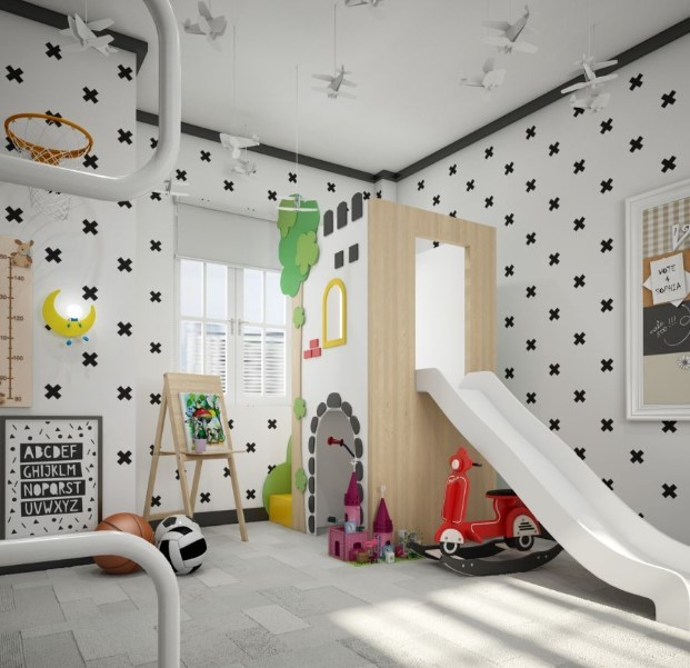 thiết kế khu vui chơi tại nhà cho bé 3