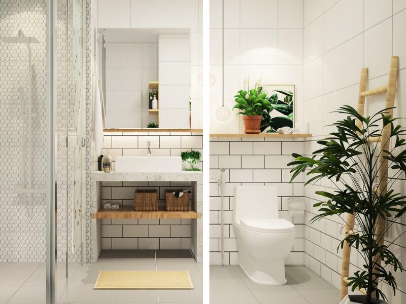 thiết kế nhà vệ sinh và nhà tắm riêng phong cách Eco