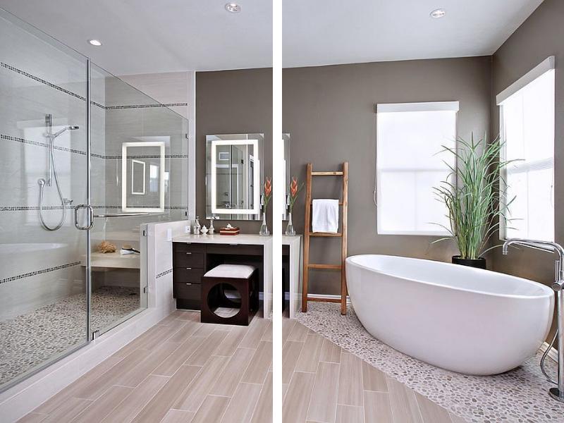 thiết kế nhà vệ sinh và nhà tắm riêng biệt