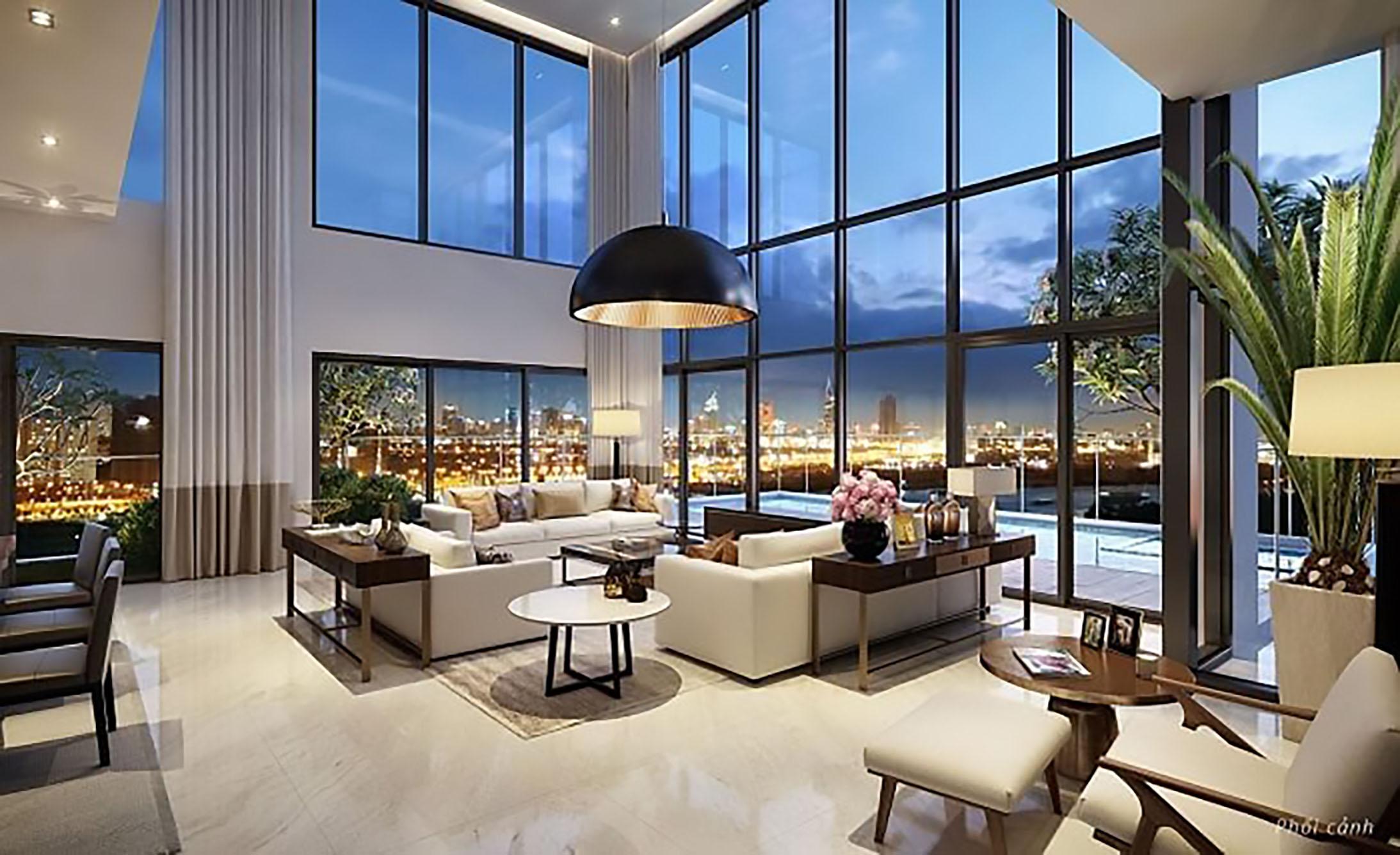 thiết kệ nội thất căn hộ Duplex tuyệt đẹp
