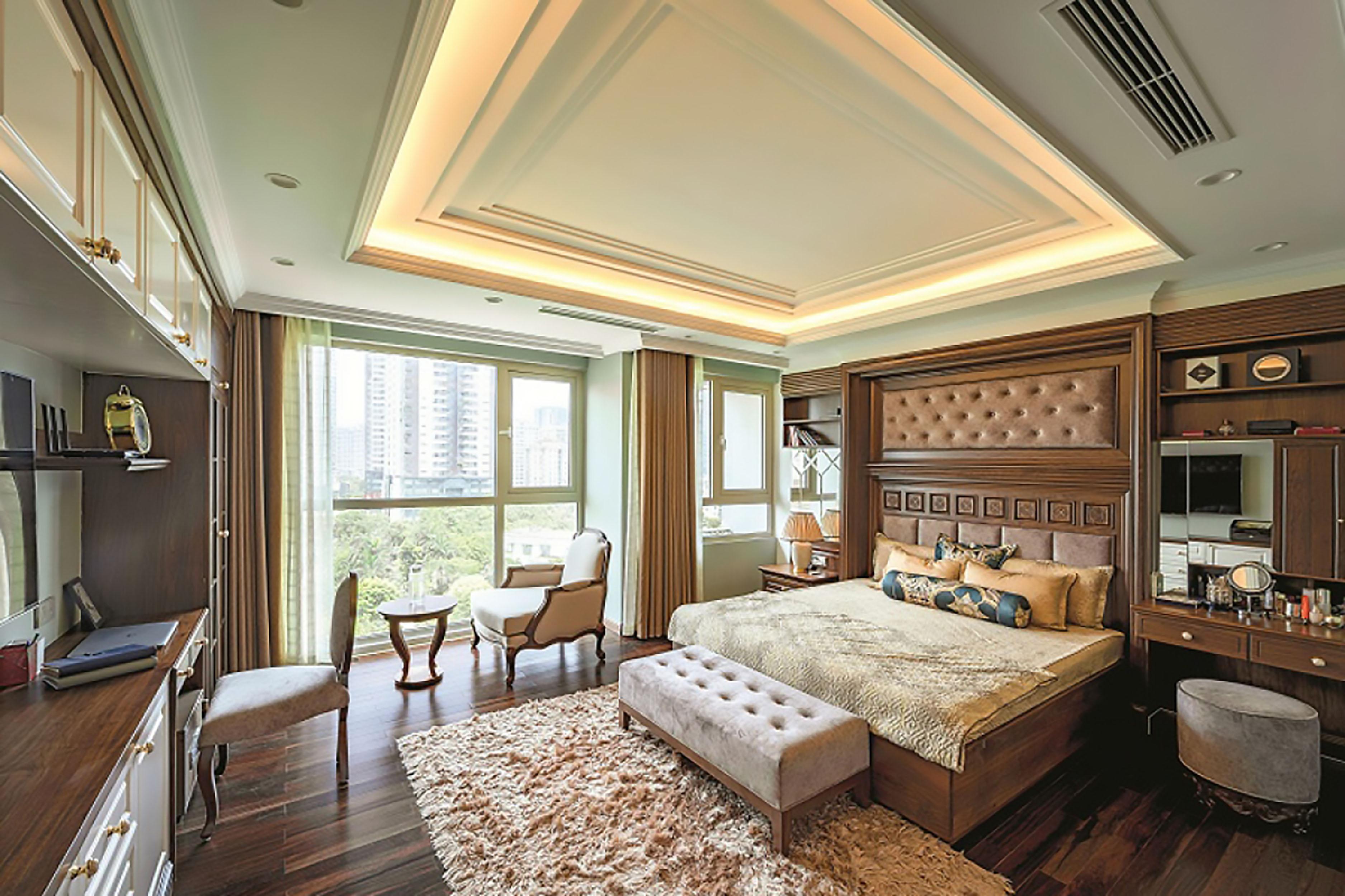 thiết kế nội thất phòng ngủ căn hộ duplex