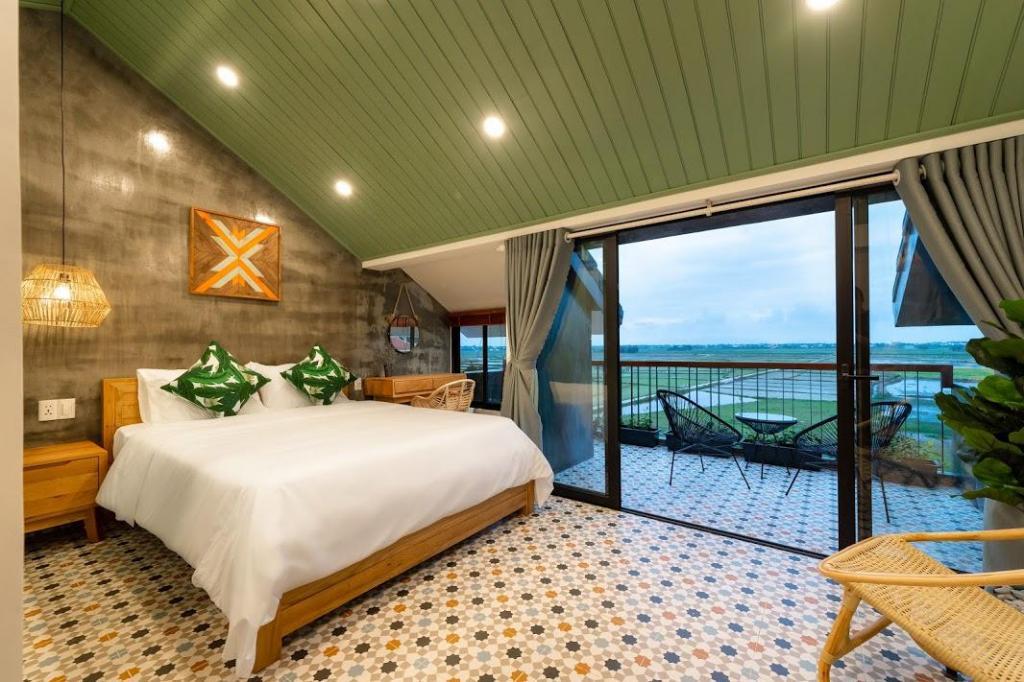 phòng ngủ độc đáo trên sân thượng