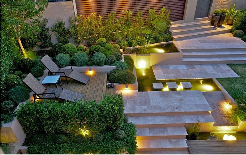 thiết kế sân vườn phong cách Châu Âu