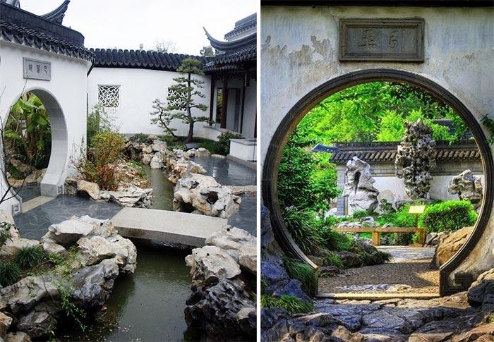 thiết kế sân vườn phong cách Trung Hoa