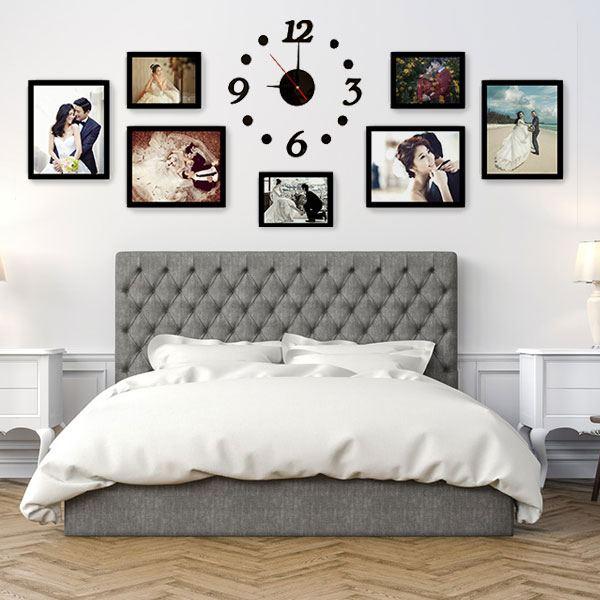 trang trí ảnh cưới trong phòng ngủ