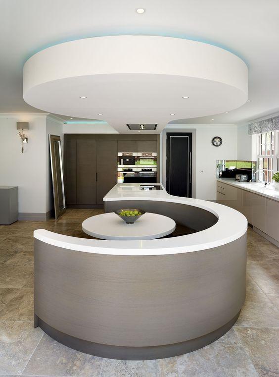 trang trí phòng bếp hiện đại với đảo bếp kiểu dáng đẹp mắt