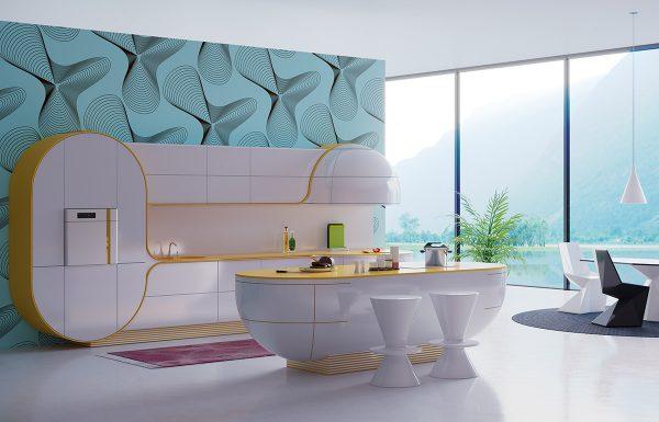 trang trí phòng bếp hiện đại với đảo bếp kiểu dáng đẹp