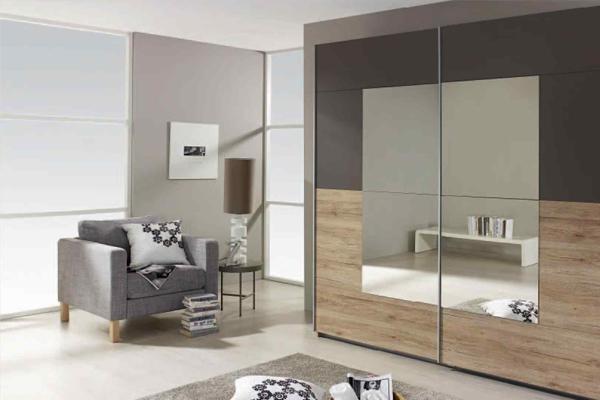 Tủ quần áo gỗ ép có gắn gương