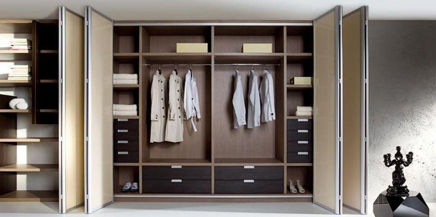 Tủ quần áo gỗ ép nhiều cánh nhiều ngăn