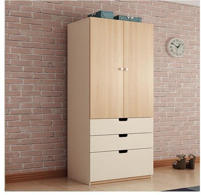 Tủ quần áo gỗ ép 2 cánh cửa