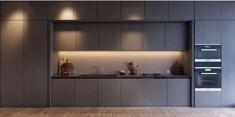 tủ bếp âm tường hiện đại