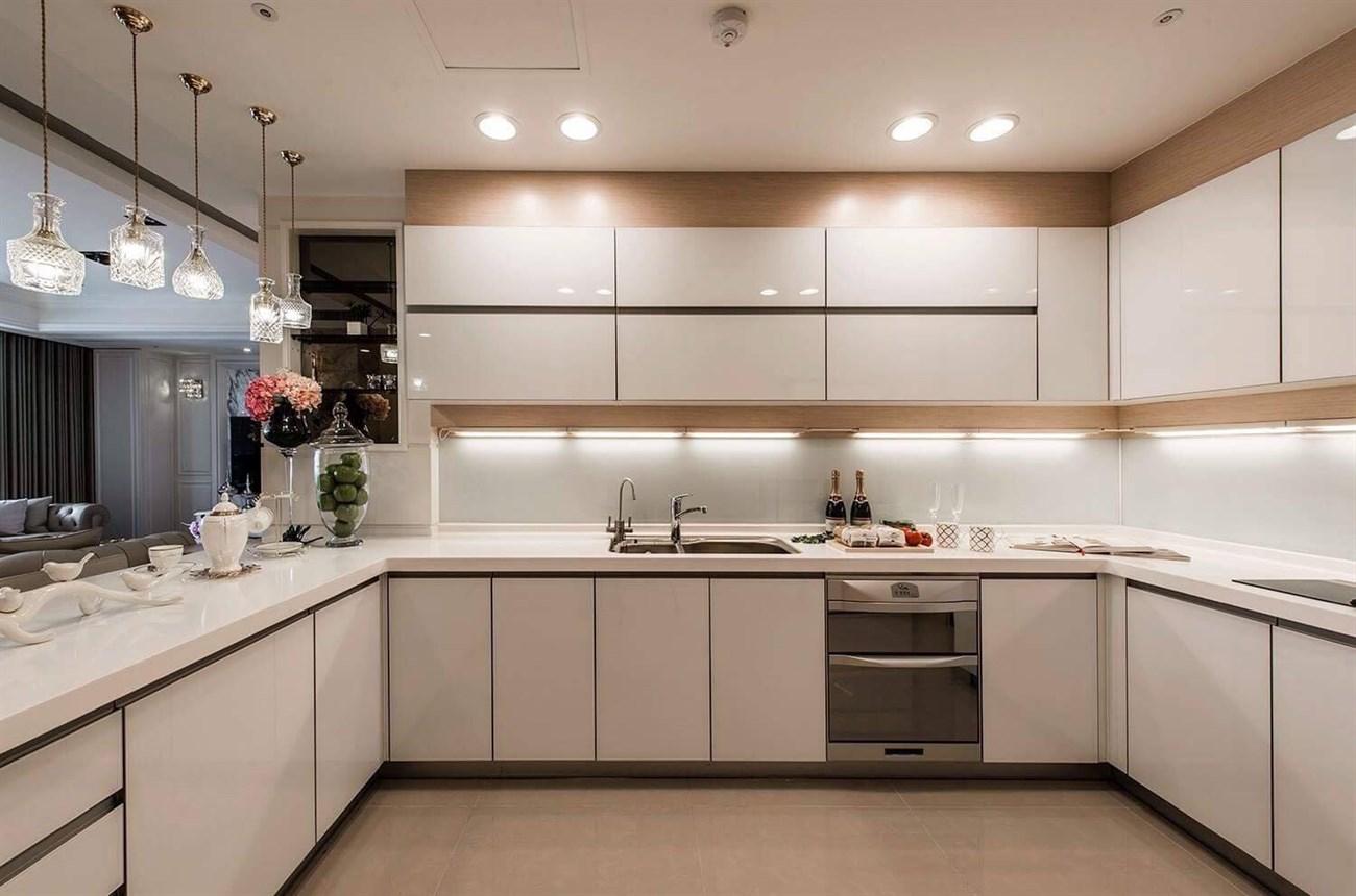 tủ bếp chữ u dành cho không gian lớn