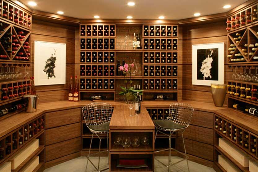 thiết kế mẫu tủ rượu độc đáo