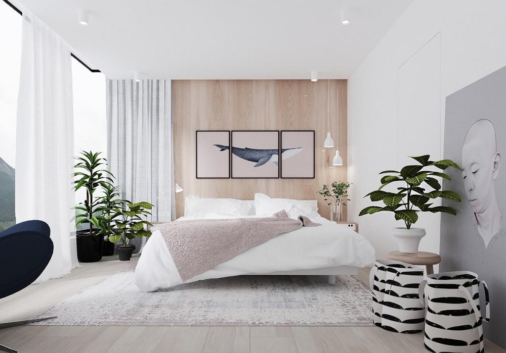 tự trang trí phòng ngủ bằng cây xanh đẹp mắt