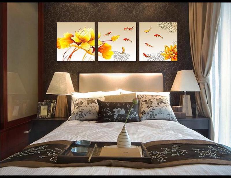 tự trang trí phòng ngủ bằng tranh phong thuỷ