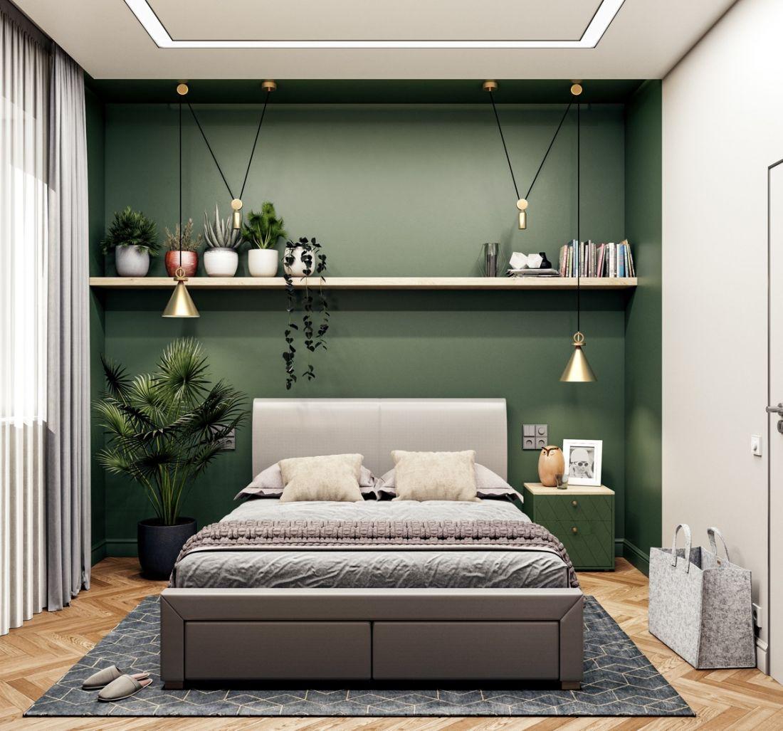 tự trang trí phòng ngủ với kệ trang trí