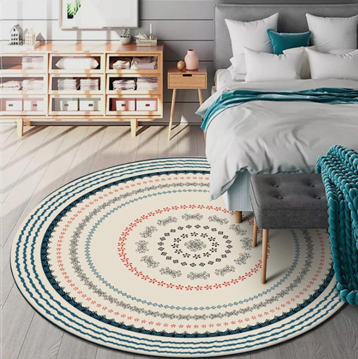 tự trang trí phòng ngủ với thảm trải sàn đơn giản