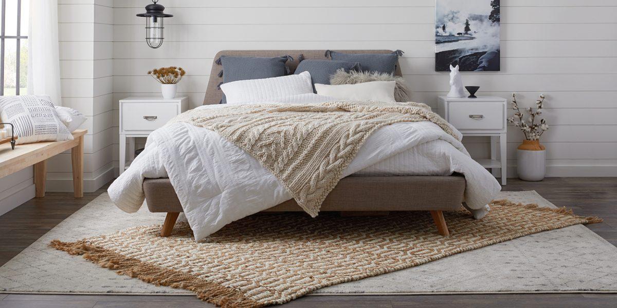 tự trang trí phòng ngủ với thảm trải sàn