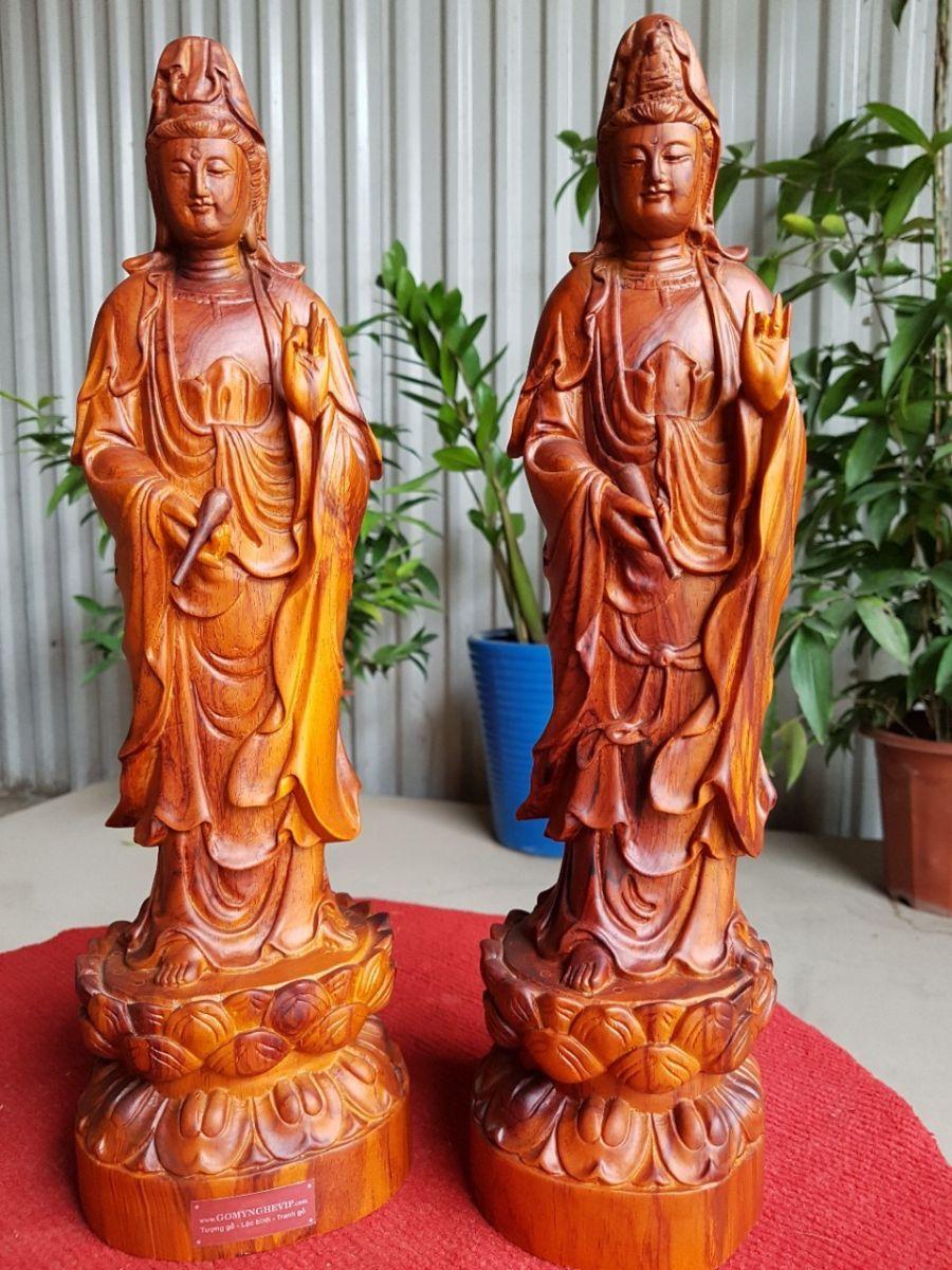 Tượng Phật Quan Âm gỗ sưa