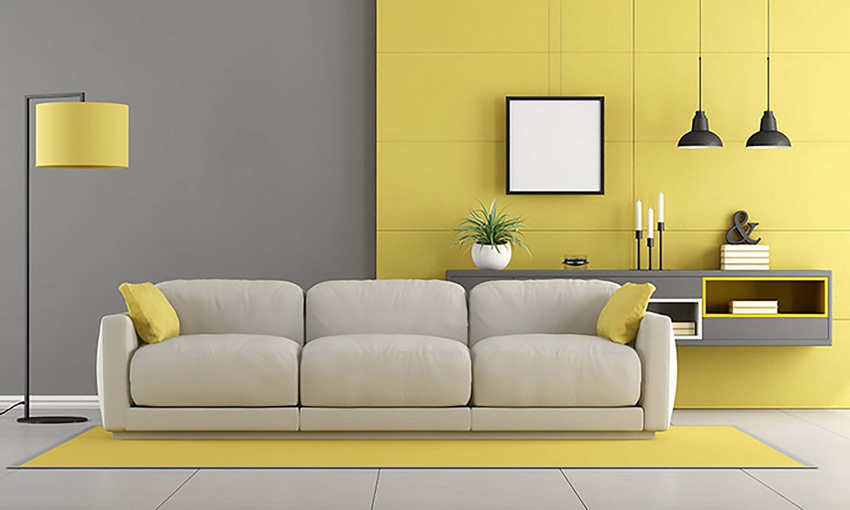 thiết kế nội thất phòng tắm màu vàng sang trọng và hiện đại